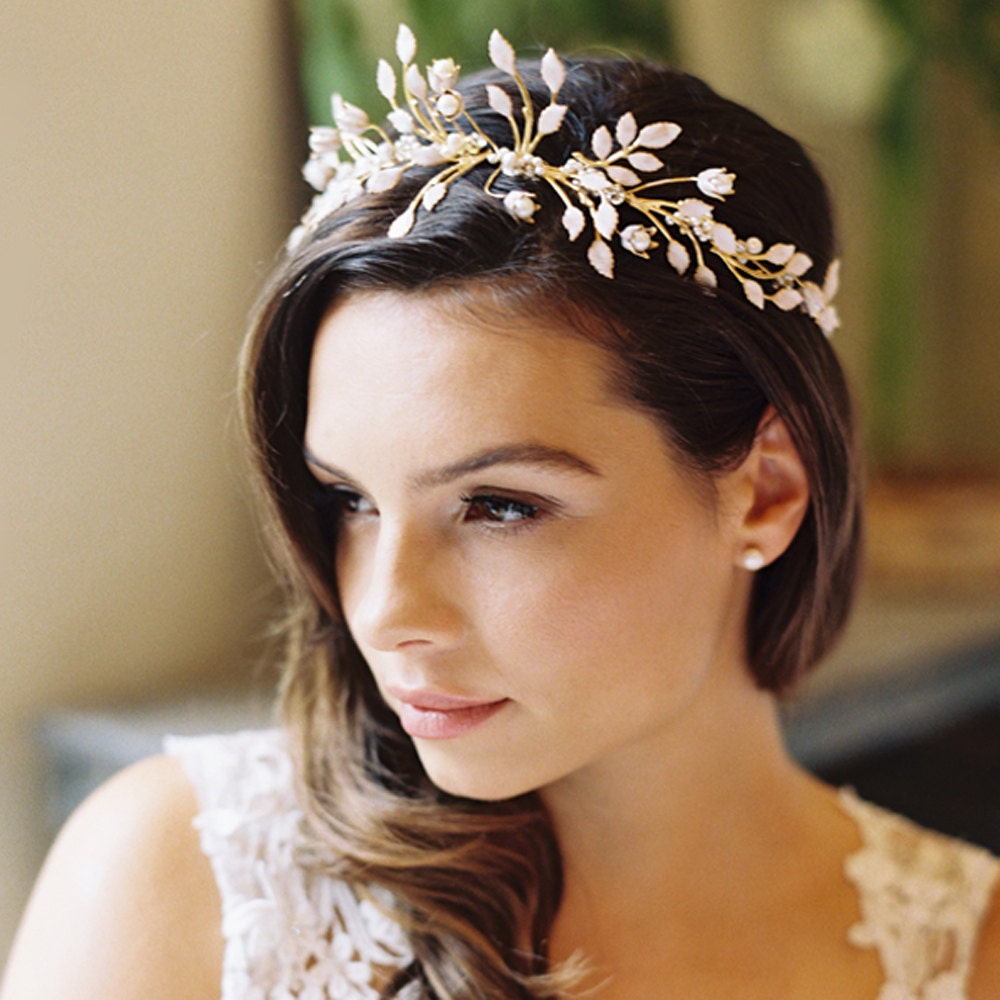 Wedding Hairstyle Crown: Wedding Leaf Crown Floral Crown Laurel Crown Wedding Hair