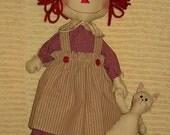 Raggedy Annie Doll Epattern, One Piece Doll, Downloadable Digital Pattern