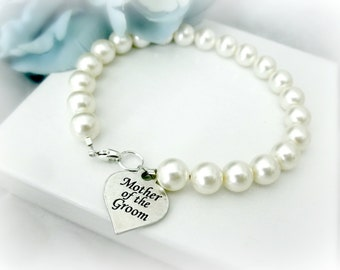 Mother of the Bride Pearl Strand Bracelet, Mother of the Groom Wedding Gift Memorable Jewelry