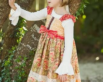 Cinnamon Avalon Dress - New Fall Girls Flutter Sleeve Dress