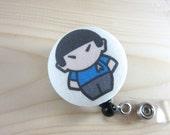 Star Trek Inspired Badge Holder Retractable Badge Reel Lanyard - Spock