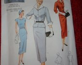 Vogue Vintage 1950's Design Dress in 3 Styles