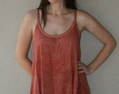 Flowy Coral Tank Top with Super Low Back - One Size Fits Most