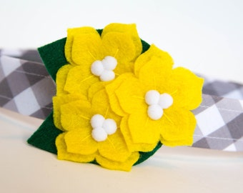 Flower Dog Collar - Carolina Jessamine