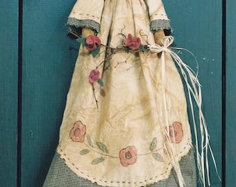 Cloth Doll E-Pattern - 18in Victorian Spring Garden Angel