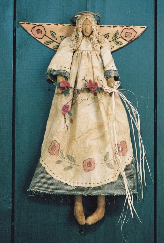 Cloth Doll E Pattern 18in Victorian Spring Garden Angel
