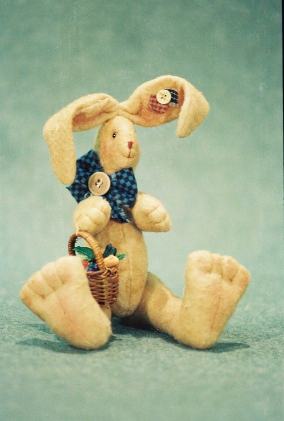 Cloth Doll E-Pattern  Cute 11in sitting Easter Bunny Epattern