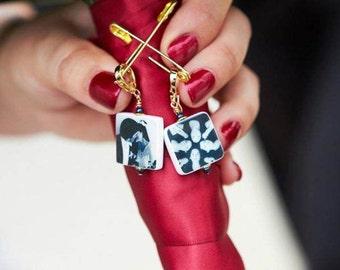 2 Bridal Bouquet Photo Charms - Small Custom, Wedding Memorial Charms - BC3x2a