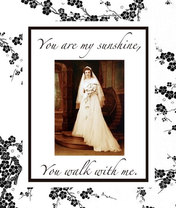 Custom Wedding Memorial Card - DIGITAL FILES - DIY Printable - You Are My Sunshine