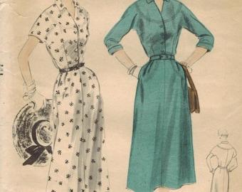 1950s Vogue 7955 Vintage Sewing Pattern Misses Afternoon Dress Size 14 Bust 32