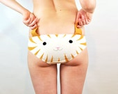 Panties with a ginger cat face and ears