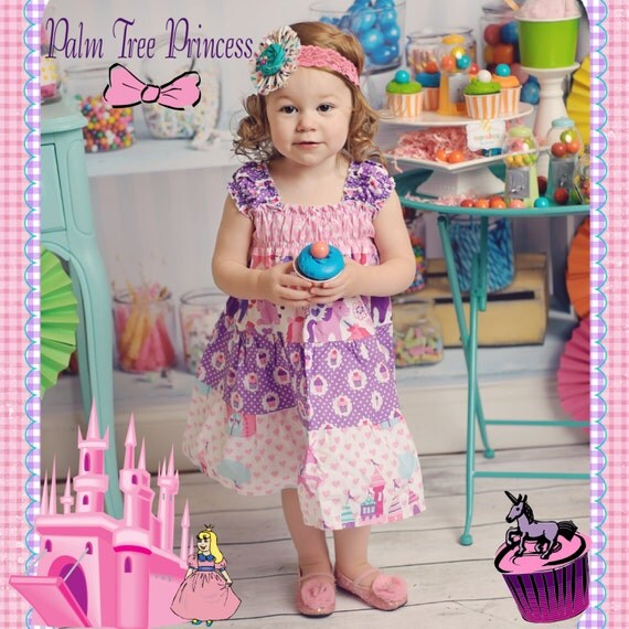 Unicorn Dress, Princess Dress, Cupcake Dress, Birthday Girl Dress