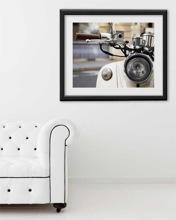 "Paris Print, ""Moped"" Extra Large Wall Art, Paris Photography Art Print, Oversized Art, Fine Art Photography Paris Decor"