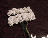 White Mulberry Paper Roses-Small White