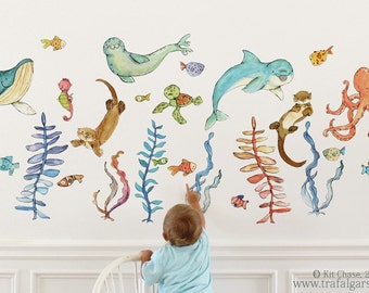 Briny Buddies - wall decal - full set