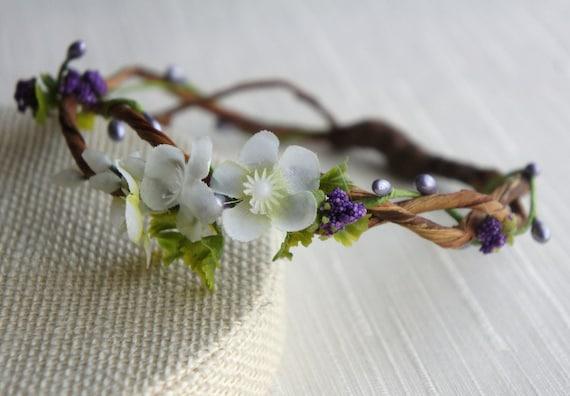 Flower Crown Headband Halo Wedding Tiara Photo Prop Head Wreath