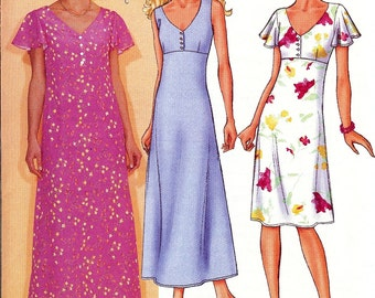 Butterick Pattern 3073 - UNCUT Fast & Easy Misses/Misses Petite Very Easy Dress 20-24