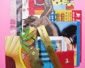 Dinosaur Mix - modern collage kit (1 mini set of paper stock)
