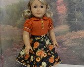 Pumpkin Harvest - vintage style dress for American Girl doll