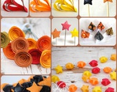 Halloween OR Harvest/Fall Party Set - Fall Colors or Halloween Themed Decor and Favors