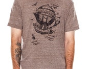 Airship Men's t-shirt, Vintage Steampunk T-shirt, Mens graphic tee, Gift, Art T-shirt, Cool t-shirt