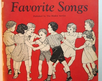 Vintage Childrens Book: Children's Favorite Songs