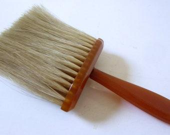 Vintage Bakelite Crumb Brush Vanity Clothes Butterscotch Art Deco Style Handle