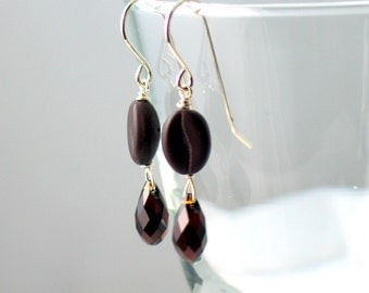 Coffee Earrings Jewelry, Good to the Last Drop, Espresso Dangles, Demitasse Brown Earrings, Conversation Starter, Dangles, But First Coffee