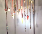 Wood Necklace Jewelry Display, 23 in. Tall with 24 Hooks, Will Make in Color of  Your Choice, or Stained