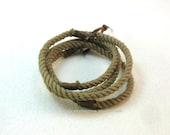 light olive taupe string bracelets soft bangles nothing bracelets skinny string bracelets grommet bracelets 3195