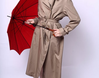 1970s Go Go Gadget Totes Trench Coat in Tan