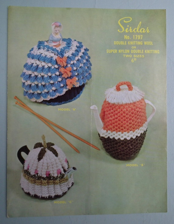 Coffee Pot Cosy Knitting Pattern : Vintage 1940s Knitting Pattern Tea Cosies and by sewmuchfrippery