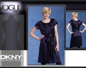 Vogue Pattern DKNY Dress American Designer Easy Beginner Sewing Pattern Vogue 1120 Little Black Dress LBD Donna Karan 6, 8, 10, 12