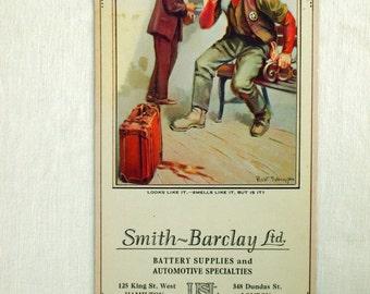 Vintage Brown and Bieglow Calendar. November 1927. Looks Like It, Smells Like It