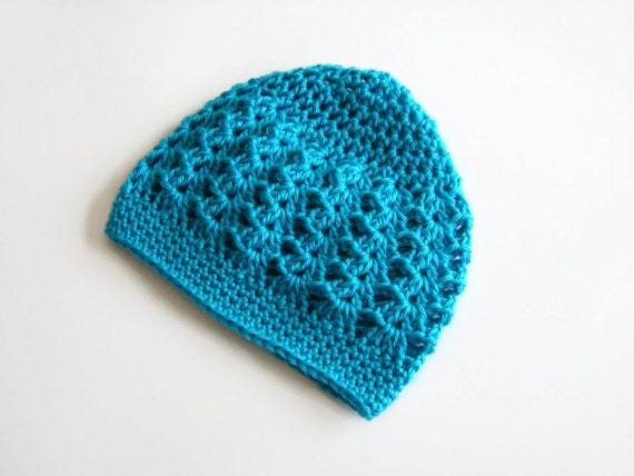 Crochet Beanie Hat for Toddlers, Mint Blue, Turquiose, Little Girls Hat, MADE TO ORDER, Sophia Fashion Beanie