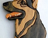 Intarsia German Shepherd