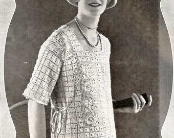 1926 Bourne Top Vintage Crochet & Knitting Pattern 315