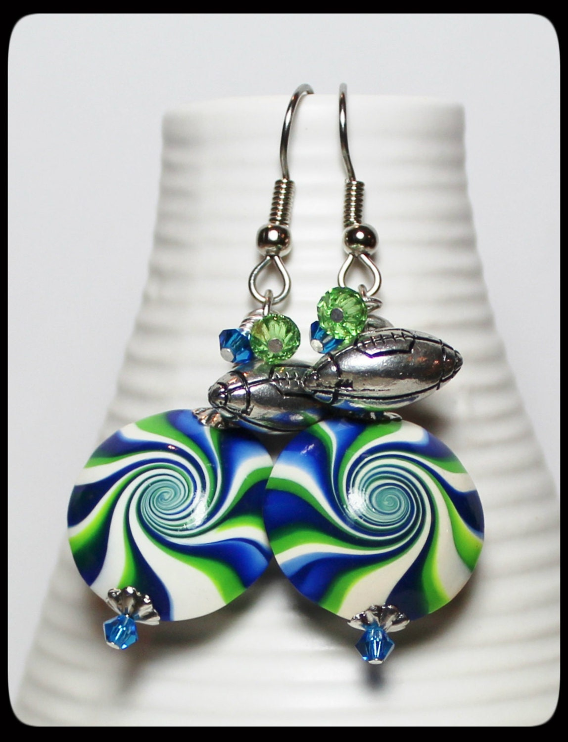 handmade jewelry seattle seattle seahawks handmade jewelry earrings beaded polymer 7315