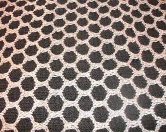 Black and Grey Honeycomb Afghan