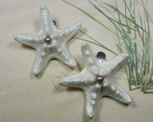 Pearly Stars - A Touch of Orchid Starfish Shoe Clips