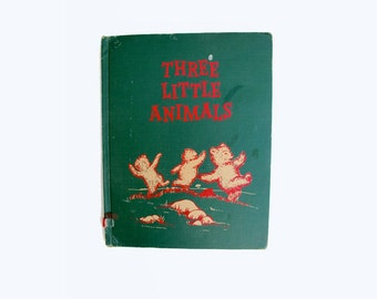Three Little Animals 1956 Hardcover Pictorial Childrens Book Margaret Wise Brown Garth Williams