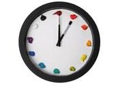 Artist Clock , Canvas, 3D paint daubs globs - Color Options and CUSTOMIZABLE - art studio, nursery, playroom decor or artist painter gift