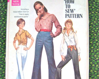 Vintage sewing pattern by Simplicity 8009.  Bust 34 inches