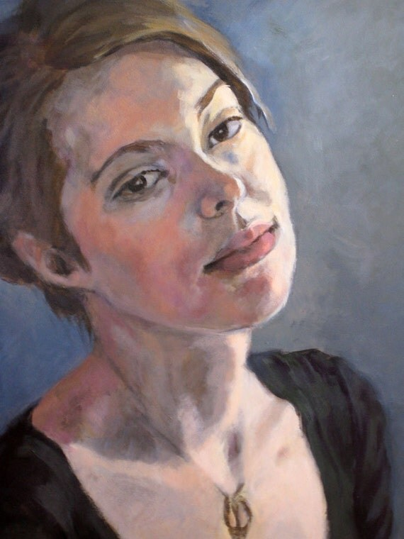 Custom portrait oil painting acrylic painting 12 x 16 for Oil or acrylic