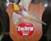 Man Cave Barware Pheasant Buckeye Beer Sign Plaque     Pheasant in Motion