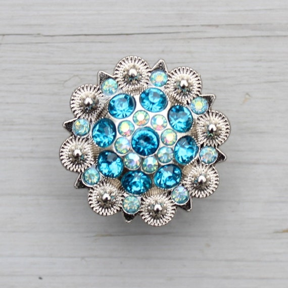 Crystal drawer knob with turquoise and light blue by darosa for Turquoise door knobs
