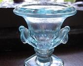 SALE! Vintage Blue Green Imperial Glass Urn Toothpick Carnival