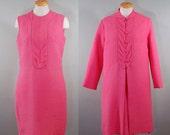 1960's Bubblegum Dress & Jacket Set, L