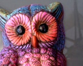 pOW oWL Upcycled Wall Hanging
