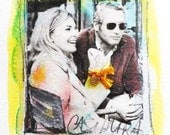 Paul Newman - Joanne Woodward - Hollywood Couple - mixed media from ROMANCE series